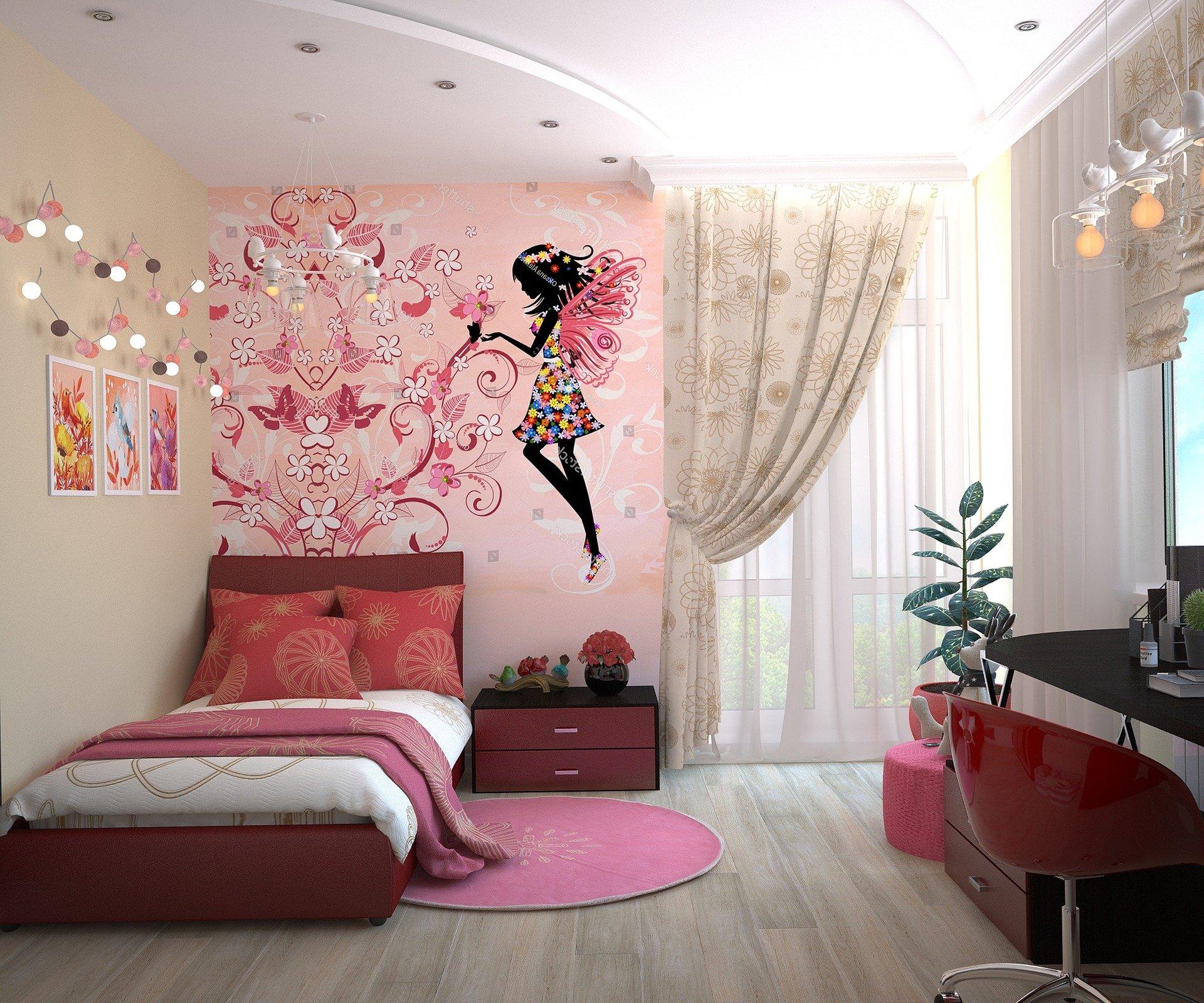 papel de parede no quarto
